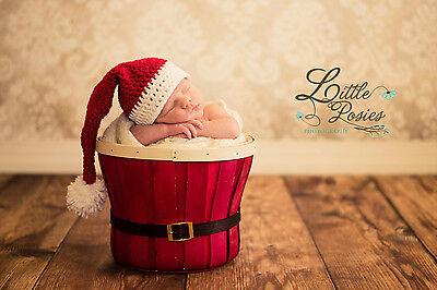 (Crochet Santa Baby Hat Christmas, Baby Santa Hat - Free Shipping)