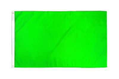 2x3 Neon Green Solid Color 210D 2'x3' Knitted Poly Nylon DuraFlag Banner (FI)