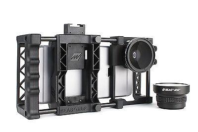 Beastgrip Pro + Wide-Angle and Fisheye Lenses. Universal Smartphone Camera Rig.