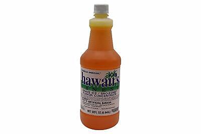 Snow Cone Shaved Ice Syrup Concentrate 1372 Banana Flavor 32 Oz 8 Gallons