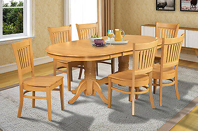 Leaf Oval Dining Table (OVAL DINETTE KITCHEN DINING TABLE SET with 18