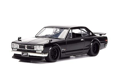 Jada Nissan Skyline 2000 GT-R Black Fast and Furious 1/24 Scale New