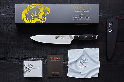 8 inch Japanese Steel Damascus Chef Knife by Orient - Gift Box & Blade Cover - Orient Chef