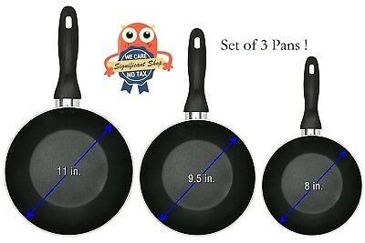 Aluminum Nonstick Frying Pan 3 Piece Set 8