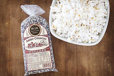 Amish Country Popcorn -Blue Popcorn Unpopped Kernels (a little Sweeter)(2 Lb)