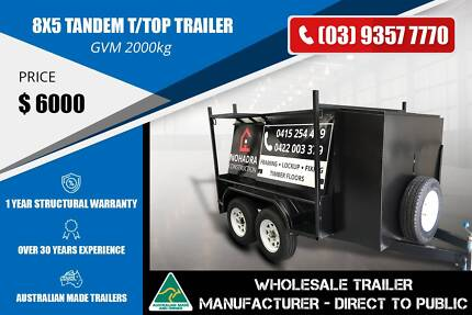 Tandem T/Top Trailer - 8x5 - GVM 2000kg Epping Whittlesea Area Preview