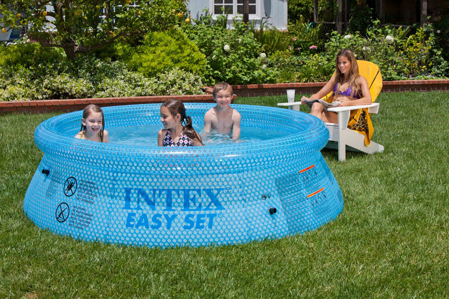 How to put up an intex above ground pool ebay for Top of the line above ground pools