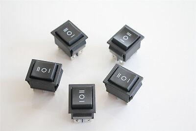 Us 5x Momentary Onoffon Rectangle Rocker Switch Car Dash 6 Pin Dpdt 12v