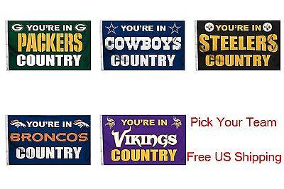 5' Outdoor Indoor Banner (NFL Team Country Deluxe Indoor/Outdoor Banner Flag 3x5)