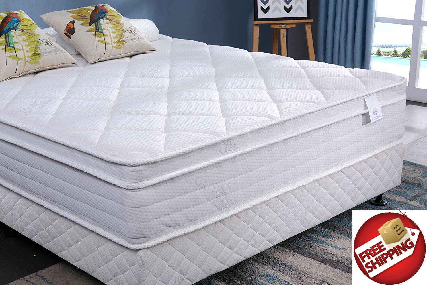 NEW Oliver Smith Twin 12 Inch Firm Mattress Spring  Organic