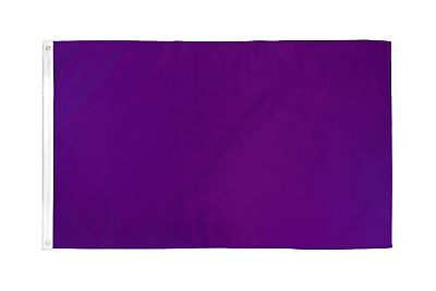 2x3 Purple Solid Color 210D 2'x3' Knitted Poly Nylon DuraFlag Banner (FI)
