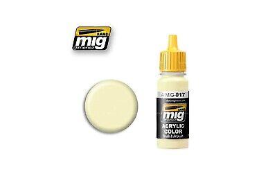 Ammo Mig: 017 RAL9001 Cremeweiss | 17ml - Ammo of Mig 8432074000174