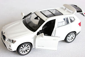 1:32 BMW X3 White Diecast Car Model off road SUV four open new gift