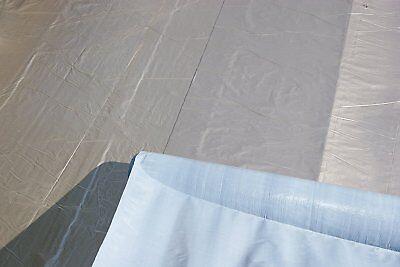 Aluminium Dachfolie KSK selbstklebend grau 5 m² für Flachdachhäuser Gartenhaus