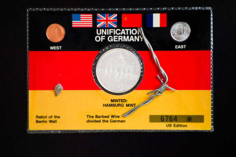 US Edition of German Unification Coins and Berlin Wall Relics
