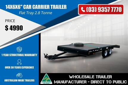 Car Carrier Trailer - GVM 2800kg - Flat Tray Epping Whittlesea Area Preview