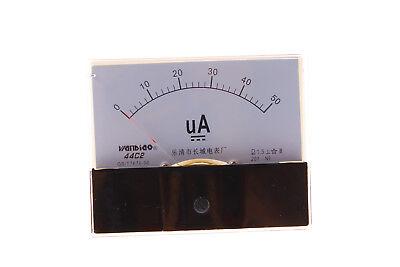 New 1pcs 44c2 Dc 0-50ua Class 1.5 Accuracy Analog Amperemeter Panel Meter Gauge
