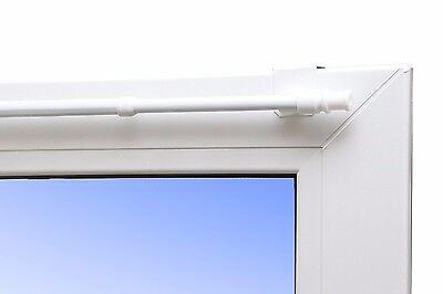 Barra para cortinas Vegas fijar-hacer clic extensible 85-135cm Blanco Universal