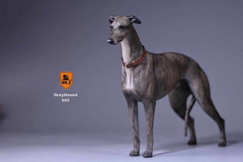 Realistic Greyhound  Sitting Dog Life Like Figurine Statue Home/Garder NEW AQ6