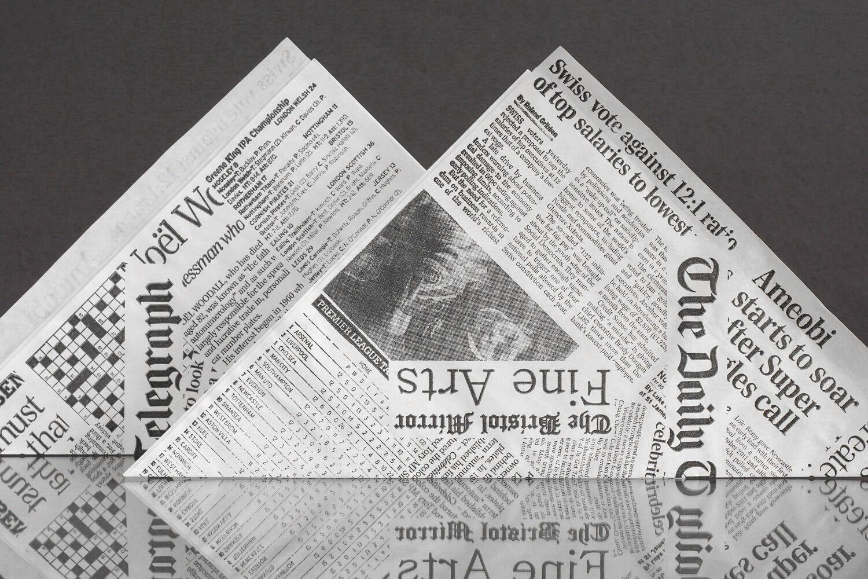 50 Spitztüten Papierspitztüten Fish & Chips Pommestüten The Daily Telegraph