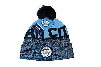 Manchester City  pom beanie cap hat Soccer Football Official Merchandise style 1