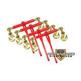 "4 Ratchet Load Binders 3/8"" - 1/2"" - Boomer Chain Equipment Tiedown"