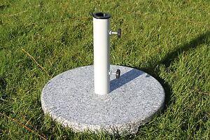 Large Round Granite Parasol Umbrella Base 20KGS - With Powder Coated Steel Tube