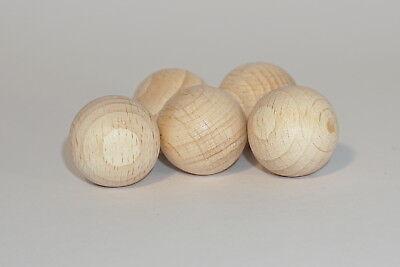 Holz-Kugeln, 20 mm Ø, Buche, 10 Stück, unbehandelt, Bastel-und Gestaltungsholz