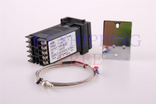 1PCS 110-240V REX-C100 Digital PID Temperature Controller Kit & SSR40DA 1Set