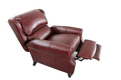 Genuine Barcalounger pushback Top Grain leather recliner Lou