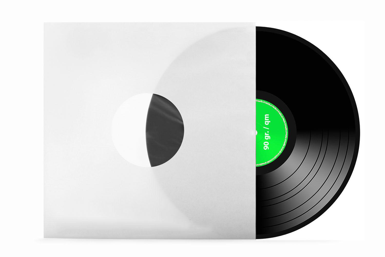LP | Schallplatten | Innenhüllen | weiß | antistatisch gefüttert | 90g./m²