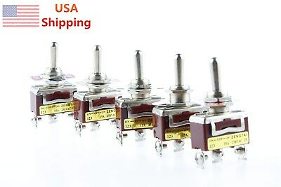 5pcs Ac 15a 250v Panel Mount 3 Position On-off-on Momentary Spdt Toggle Switch