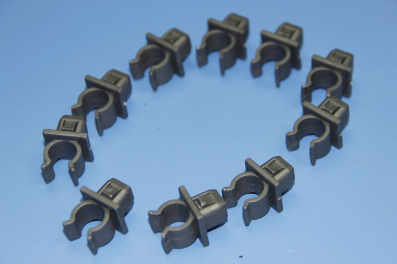 LAND ROVER GREY HOOD RETAINER BONNET ROD STAY GRIPPER HOOK ARM CLIPS 10PCS
