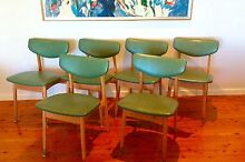 6 x retro vintage parker eames era CRO chairs delivery available Carey Bay Lake Macquarie Area Preview