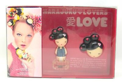 Harajuku Lovers LOVE by Gwen Stefani Gift Set 0.3 oz EDT + 0.04 oz solid perfume - Lovers Gift Set