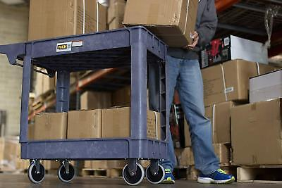 Heavy Duty Tool Cart With Wheels Work Bench Utility Service Shop Plastic Garden