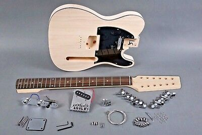 BUILD YOUR OWN great playing 12 STRING SOLID TELE ELECTRIC GUITAR diy KIT