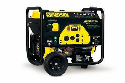 Champion 4750-w Portable Hybrid Dual Fuel Gas Powered Electric Start Generator