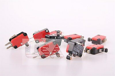 10 X Momentary Limit Micro Switch V-155-1c25 Hinge Roller Lever Ac Dc 15a