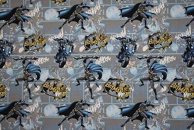Batman, Baumwolljersey, Jersey, Comic, blau, grau, Kinder, Stoff (J350)