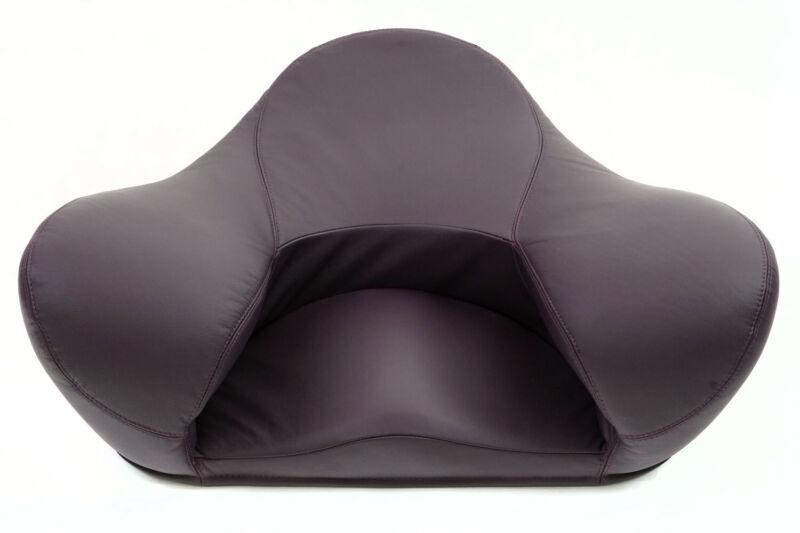 Alexia Ergonomic Yoga Meditation Seat  Genuine Leather Purple