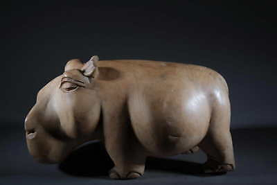 Crafts African Hippo Wooden