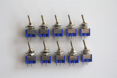 20pcs 2 Pin Spst On-off 2 Position 250vac Mini Toggle Switches Mts-101 Us Stock