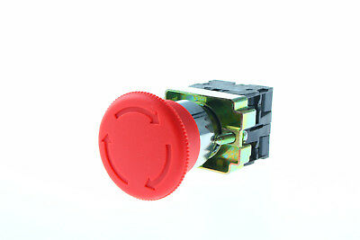 Contact Twist Reset Emergency Stop Button Switch Xb2-bs545 Us Stock 1nc 1no New