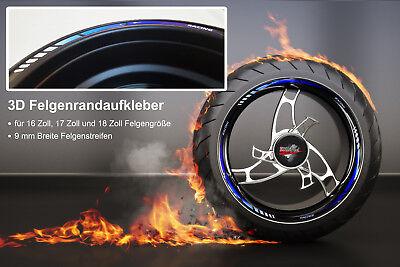 Felgenrandaufkleber GP-Style 3D Racing Blue 700007 für 16 Zoll, 17 Zoll, 18 Zoll