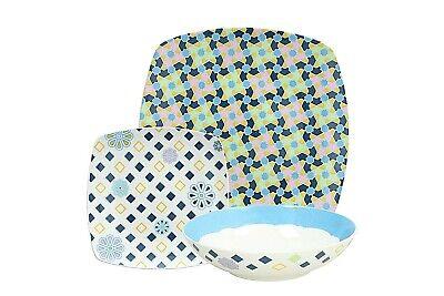 SERVIZIO PIATTI TOGNANA,x 6 persone,18 pezzi ,Dot, Quadrato Table dishes,