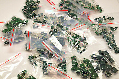 38value X 10pcs 100v Polyester Capacitor Assorted Kit 2a221j-2a474j
