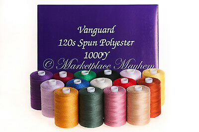 SEWING/MACHINE THREAD - 120s SPUN POLYESTER - OVERLOCK - 1000YD SPOOL/COP/REEL