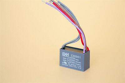 4.5uf+5uf+6uf 250V CBB61 Motor Start Run Ceiling Fan Capacitor 5 Wire