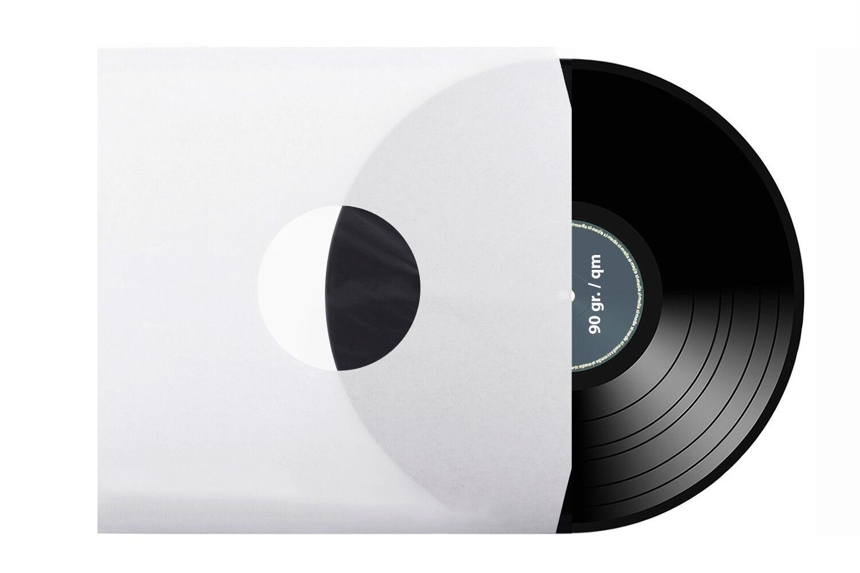 LP | Schallplatten | Innenhüllen | weiß | antistatisch | 2 Eckschnitt | 90g./m²